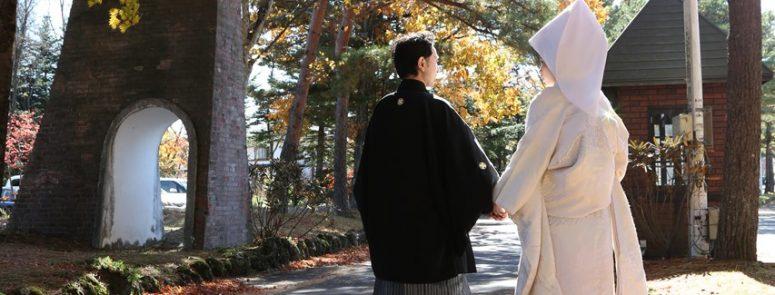 ロケ撮影 和装 軽井沢 紅葉